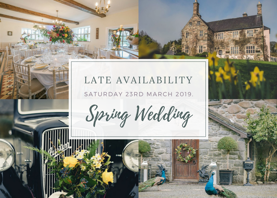 A Spring Wedding in North Wales: Late Availability